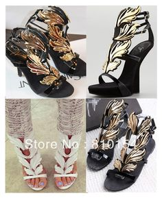 0bb237511411 2013 gold leaf gold leaf wings flame gz sculpture high heeled sandals  shoes-inSandals from Shoes on Aliexpress.com  69.00