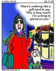 """There's nothing like a gift card to say, """"This is how much I'm willing to spend on you."""""""