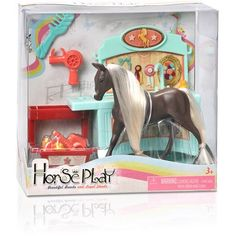 Horse Play Brown Primped N Pretty Horse Grooming Set, Multicolor