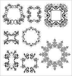 Free Vector | Floral elements   vector 110893 - by vectorstock on VectorStock®