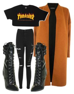 """""""Untitled #3110"""" by ma-rae ❤ liked on Polyvore featuring The Highest Heel, Topshop and Warehouse"""