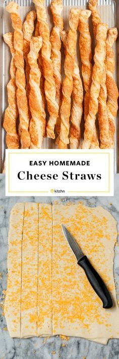 How To Make Puff Pastry Cheese Straws Easy Homemade Cheese Straws Recipe. Make these delicious small bites or appetizers for your new year's eve party! Or if you're looking for ideas and recipes for. Appetizers For A Crowd, Best Appetizers, Holiday Appetizers, Cheese Appetizers, Cheese Dips, Cheese Puffs, Easy Cheese, Cheese Twists, Cheese Recipes