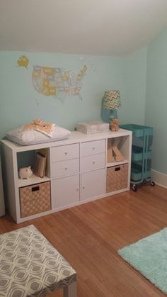 Ikea kallax changing table