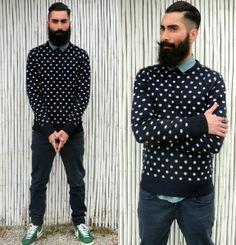 Asos sweater, Zara pants, Nike Blazer, Zara shirt.
