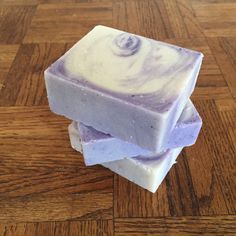 Bergamot Violet with Pumice Bar Soap Organic Vegan Friendly Soap Cold Process Soap Hand Cut Bar Soap Artisan Soap Bars FREE SHIPPING