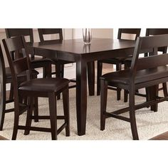 Vaughn Espresso 54-inch Square Counter Height Table | Overstock™ Shopping - Great Deals on Dining Tables