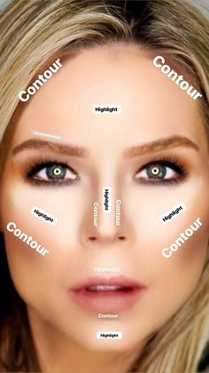 How To Blend Contouring, Easy Contouring, How To Contour Your Face, Contouring For Beginners, Contouring And Highlighting, How To Apply Makeup, How To Powder Contour, Best Makeup For Contouring, How To Contour For Beginners
