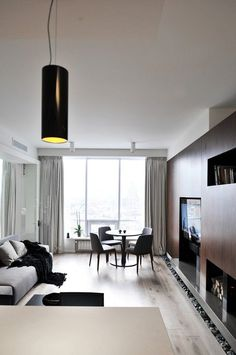 An Ultra Modern Moscow Apartment With A Glass Wall Between Bedroom And Living…