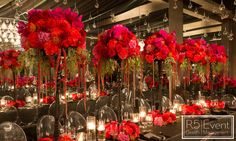 """Rouge Paradise"" Red and Black chic and elegant wedding by R5 Event Design"