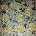 Muffins banana e gocce di cioccolato con farina di riso