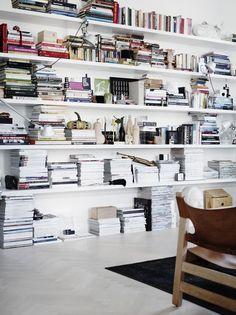 books, books in interior design, still lifes, scandinavian interior via http://www.scandinavianlovesong.com/