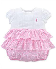 Ralph Lauren Baby Girls' Ruffle Shortall