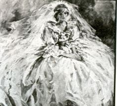 This rarely seen portrait was commissioned by Prince Charles after their 1981 nuptials – it is said that it was his favorite picture of Diana in her wedding dress and he had an oil painting done of it that is still in his private collection.