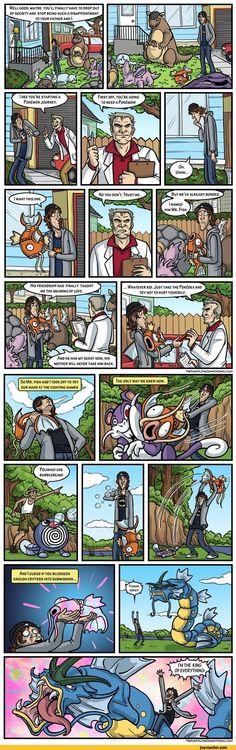 Pokemon,comics,funny comics & strips, cartoons,magikarp,thepunchlineismachismo