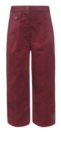 Girls Burgundy #School_Uniform_Pants