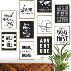 """- Make an instant gallery wall in your home, office, bedroom or kid's room!  - Pick a few of your favorites to refresh your decor! - Add inspiration to any office or family space! - Grab a few as gifts! - Perfect DORM decor! Print size: 8"""" x 10"""" Framing Info: Posters will fit in any 16"""" x 20"""" or 11"""" x 14"""" frame that has an 8"""" x 10"""" matte. They will also fit in any standard 8"""" x 10"""" frame.. Please note frames and accessories shown are NOT i..."""