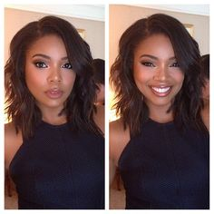 @gabunion so pretty today for #topfive movie press in NY  hair by @kiyahwright1 #MAKEUPbyMARIO