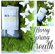 Raising up Rubies: mossy spring wreath ... ♥