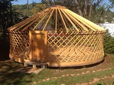 Yurt : 'Cloud House' Traditional Mongolian Ger, Off Grid Home, Movement Studio, Guest House Glamping, Wood Stove Chimney, Small Rings, Homesteading, Grid, Cloud, Outdoor Structures, Traditional, Houses