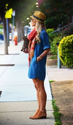 Leopard Chambray Tunic  #anthropologie