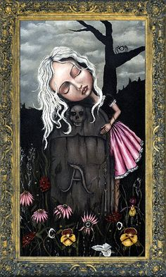 Angelina Wrona - Remembrance This hangs in my home as a tribute to my first baby that never got to take a breath. I lovingly think of them every time I look at this. Kunst Poster, Galerie D'art, Goth Art, Lowbrow Art, Pop Surrealism, Painting Edges, Stretched Canvas Prints, Dark Art, Find Art