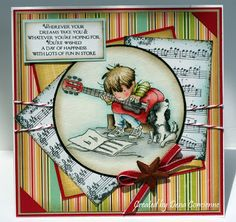 Dena's Stamping Corner: Lili of the Valley Boy Cards, Kids Cards, Cute Cards, Tag Craft, Art Impressions Stamps, Scrapbooking, Birthday Cards For Men, Tampons, Card Sketches
