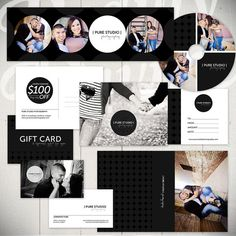 Photography Marketing Set Templates: Pure Studio - Set of 14 Photography Business Designs