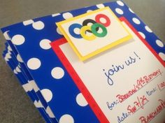 Olympic-themed invit