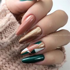 Almonds nails are one of the most popular nail shapes around, and its easy to know why. Weve prepared 36 gorgeous almond nails ideas, from bright and bold patterns to chic and dull colors, which will bring fashion to your fingertips. Perfect Nails, Gorgeous Nails, Love Nails, Pretty Nails, My Nails, Shellac Nails, Pink Nails, Nails Now, Color Nails