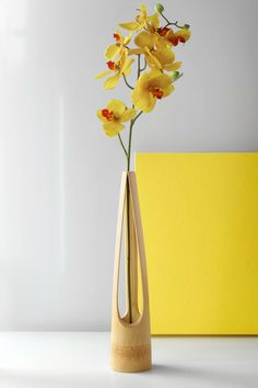 LENTUR vase resembles a delicate yet poetic masterpiece inspired by the gesture of one's three fingers holding a flower stem. A naturally bent curvature and a tapered triangular shape at...