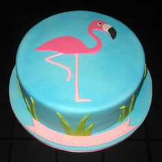 for LeaAnn simple flamingo cake Pink Flamingo Party, Flamingo Cake, Flamingo Birthday, 1 Tier Cake, Tiered Cakes, Cupcakes, Cupcake Cakes, Cake Decorating Techniques, Specialty Cakes