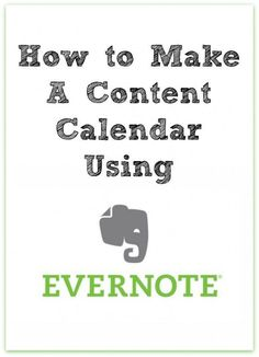 How to Make a Content Calendar Using Evernote   The Noshery - As bloggers we need a way to keep track of all of our upcoming blog posts, social media postings, sponsored posts and more. Creating a content calendar can help you develop a well rounded blog content strategy and keep you at the top of your game! And even better, you can create your content calendar using Evernote. Ready to get your blog content strategy game on? Click through to read more!