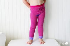5 minute toddler leggings!