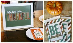 Be Thankful Print and Utensil Holders