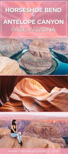 Exploring Horseshoe Bend and Lower Antelope Canyon in Arizon.- Exploring Horseshoe Bend and Lower Antelope Canyon in Arizona – Travel Pockets Exploring Horseshoe Bend and Antelope Canyon in Page, Arizona, USA - Arizona Road Trip, Arizona Travel, Places To Travel, Travel Destinations, Places To Go, Page Arizona, Arizona Usa, Death Valley, Vacation Ideas