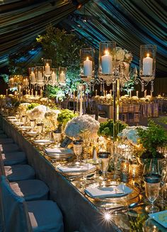 Wedding Ideas: 19 Fabulous Ways to Use Mirrors - wedding reception idea; Event Desing: Colin Cowie Weddings