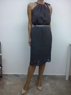 Φόρεμα σε πουά μουσελίνα φοδραρισμένη της Ν.Σεμινάριο Κοπτικής-Ραπτικής Α΄ Κύκλος.