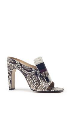Womens 2018 Vogue Leather Straps Block Heel Slingback Sandals Shoes Mules igag