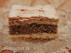 Juhoslovanský krémeš Hungarian Cake, Russian Recipes, Tiramisu, Rum, Recipies, Cooking Recipes, Sweet, Ethnic Recipes, Desserts