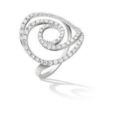 Bague Twirl en or blanc et diamants