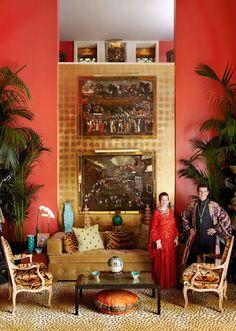 Ruth and Hutton Wilkinson designed Casa Contessa--The most smashing house in the world!  dovecotedecor.com