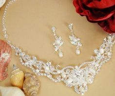 Ivory and Silver wedding necklace
