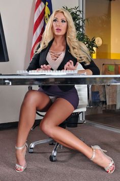 "heelsland: "" hot girls in tight dresses, lingerie, sexy outfits … and always wearing high heels "" Today is secretary's day. Let's take a moment today to remember that one of the best ways to thank. Short Skirts, Short Dresses, Tight Dresses, Summer Brielle, Hot Blondes, Up Girl, Madame, Sexy Legs, Sexy Outfits"