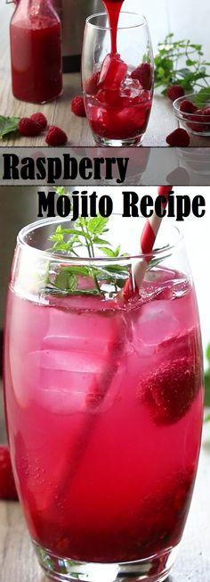 Raspberry Mojito Recipe #ErrensKitchen #cocktail #raspberrymojito |  #drinkrecipe #Mojito #Raspberry  #drink