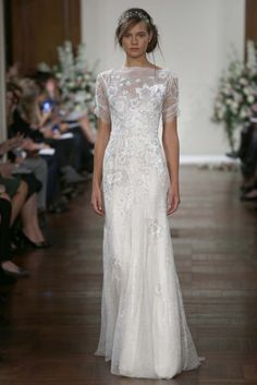 jenny packham 1 Spring 2013 Bridal Trends Love the skeeves on this