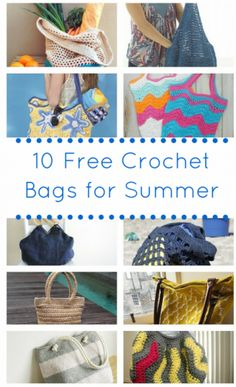 10 Free Crochet Bags for Summer