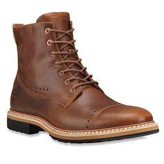 """Timberland West Haven 6"""" Side-Zip Boot   Men's - Tan Full-Grain"""