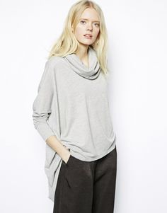 Just Female Roll Neck Oversized Top