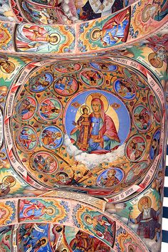 This was more beautiful in person. Rila Monastery, Sofia Bulgaria