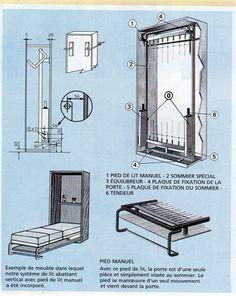 Bricolage fabriquer un lit escamotable conseils des - Fabriquer un lit ...